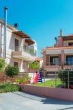 两栋热带公寓 免版税库存图片
