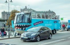 两栖公共汽车斯德哥尔摩 库存照片