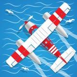 两栖水上飞机 库存图片