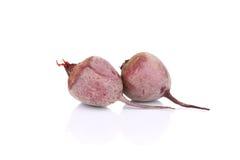 两棵成熟甜菜 免版税库存照片