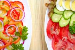 两棵菜沙拉 库存图片