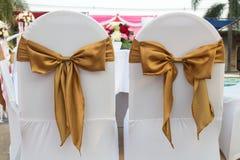 两椅子在婚礼放 免版税库存照片