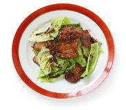 两次中国熟食猪肉 免版税库存图片