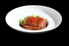 两次煮熟的猪肉 免版税库存图片