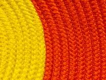 两正文的口气黄色和橙色背景纹理 库存照片