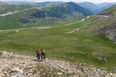 两步行入山的姐妹 库存照片