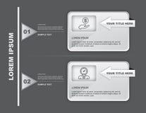 两步Infographics 免版税库存图片