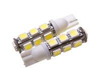 两汽车的灯有13个LEDs的 库存图片