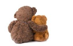 两玩具熊拥抱 库存照片