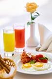 两的可口早餐在豪华旅馆 库存照片