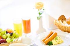 两的可口早餐在豪华旅馆 图库摄影