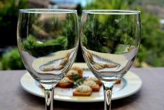 两的浪漫下午快餐 免版税库存图片