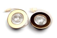 两盏金聚光灯 库存照片