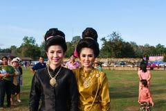 两秀丽女孩文化 免版税库存图片
