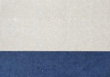 两种颜色被回收的纸板纹理 库存照片