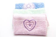 两端有绒穗之布毛巾 免版税库存照片