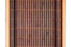 两竹子席子扭转了以在白色背景隔绝的原稿的形式 图库摄影