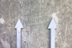 两箭头 免版税图库摄影