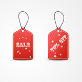 两红色标签销售传染媒介例证 向量例证
