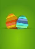 两美味的复活节彩蛋 库存图片