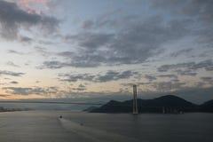 两美洲桥梁 库存图片