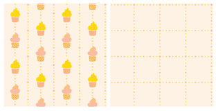 两背景-蛋糕 免版税库存图片