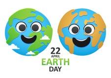 两行星地球 免版税库存照片