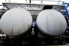 两辆化工坦克 免版税库存照片