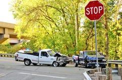 两辆卡车击毁 图库摄影