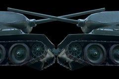 两辆坦克,面对 免版税库存照片