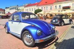两辆VW甲虫汽车在萨诺克 免版税库存图片