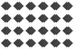 两连续深灰金刚石样式,装饰瓦片的元素,对称样式 库存图片