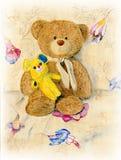 两逗人喜爱的玩具熊 库存图片