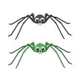 两逗人喜爱的蜘蛛 库存照片
