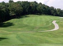 两道菜的高尔夫球 库存照片