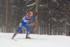 两项竞赛错过-加夫列拉Soukalova 库存照片
