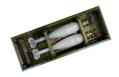 两颗灰浆炸弹 免版税库存图片
