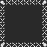 两骨交叉图形头骨 图库摄影