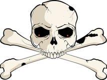 两骨交叉图形头骨 免版税图库摄影