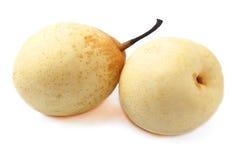 两水多的成熟梨。 免版税库存图片