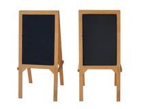 两黑黑板站立餐馆 免版税图库摄影