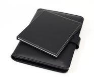 两黑笔记本 免版税库存照片