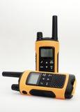 两黄色和黑手提电话机集合 库存图片