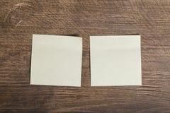 两黄色胶粘标签 免版税库存照片
