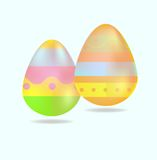 两Colourfull复活节 库存图片