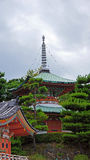 两Kosanji寺庙传说上有名塔在日本 图库摄影