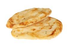 两naan面包 免版税库存图片