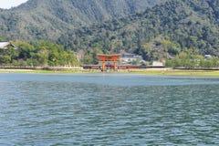 严岛神社Torii  库存照片