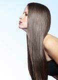 严格的健康头发 免版税库存照片