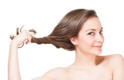 严格的健康头发 免版税库存图片